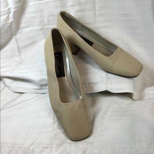 Woman's chunky heels